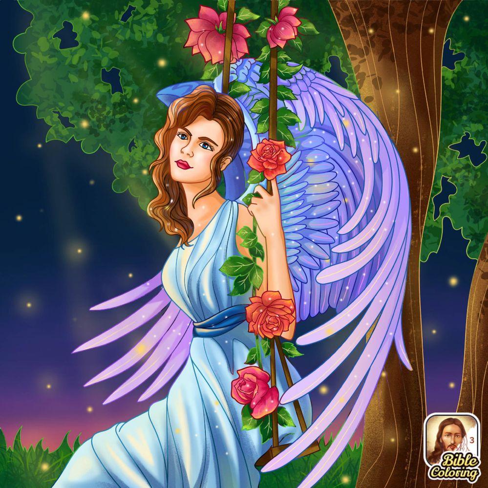 Pretty angel, I'd love those wings...