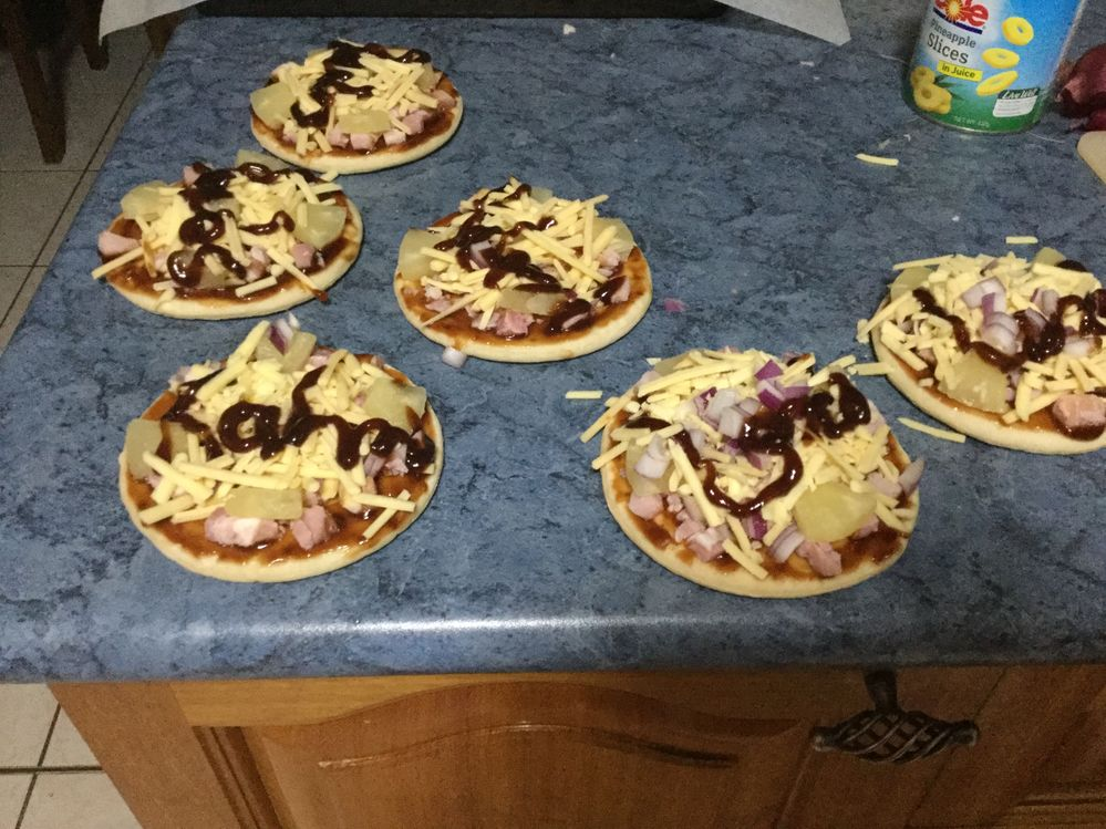 My Pizza! These are the made up names of my siblings.